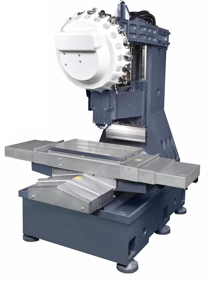 床身、工作台、滑座、立柱、主轴箱等大件均采用高强度铸铁材料,造型为树脂砂工艺,两次时效处理消除应力